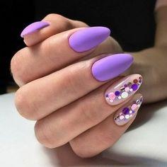 Nails Love Nails, Pretty Nails, My Nails, Best Nail Art Designs, Manicure E Pedicure, Nagel Gel, Purple Nails, Violet Nails, Perfect Nails