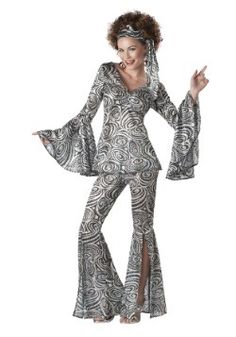 Plus Size Women's Foxy Lady Disco Costume - #halloweencostumes #Halloween #Coupons #Deals