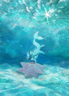 Pokemon Fan Art, Gif Pokemon, Pokemon Eeveelutions, Eevee Evolutions, Pokemon Comics, Pokemon Fusion, Pokemon Stuff, Digimon, Water Type Pokemon