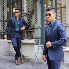 Get this look: http://lb.nu/look/8426421  More looks by Leo Chan: http://lb.nu/levitatestyle  Items in this look:  Perry Ellis Very Slim Travel Luxe Tech Suit   #100piecesofperry #chic #dapper #preppy #nyc #summer #style #menswear #perryellis