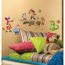 Jake and the Neverland Pirates 32 Peel and Stick Wall Decals NIP - USA