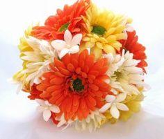 This bouquet could double as a vase less centerpiece