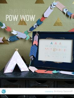 Simple Sew: Chevron Garland made with the help of your Silhouette #party #tutorial