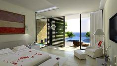 Luxury bedroom at Cap St. Georges Villas, Cyprus. Developer: Korantina Homes