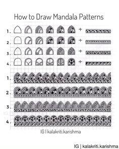825 Likes, 34 Comments - Karishma Srivastava Mandala Motif, Mandala Doodle, Mandala Pattern, Pattern Art, Lotus Mandala Design, Mandala Art Lesson, Mandala Artwork, Doodle Art Drawing, Mandala Drawing