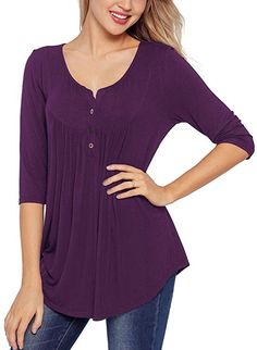 9a03c31d9175e Heirloom 3 4 Sleeve V-Neck Top Soft Yet Durable