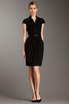 Calvin klein black dress with gold buttons