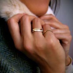 thin bar rings