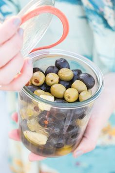 The BEST marinated olive recipe!!