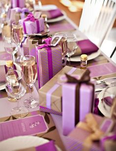 {for the holidays | tabletop inspiration : wrapped presents} by {this is glamorous}, via Flickr