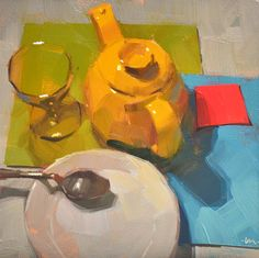 DPW Fine Art Friendly Auctions - My Collection by Carol Marine Still Life Drawing, Painting Still Life, Still Life Art, Artist Painting, Painting & Drawing, Fine Art Auctions, Tea Art, Cool Paintings, My Collection