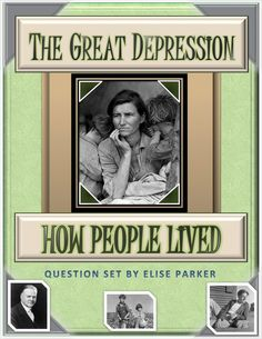Great Depression Worksheets: 46 true/false and multiple choice questions about life in the United States during the Great Depression. Great for teasers, discussion-starters, and testing basic info about ordinary people from 1929-1939. Beautifully formatted Great Depression  worksheets to print out -- both consumable and reusable variants included, along with full answer key.