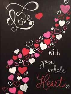 Valentine chalk board message