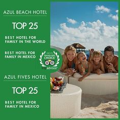 Your family deserves the best. That's why a vacation in one of the World's Top 25 Hotels for Families is where you need to be. Big thank you to our guests for making us the best in the 2015 TripAdvisor #TravelersChoice Awards. #FamilyTravel #TravelTuesday #AzulBeach #AzulFives #KarismaExperience