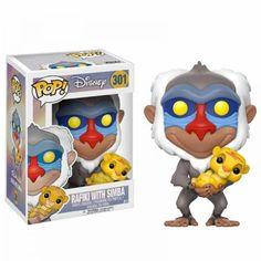 Figura Funko Pop Disney Rafiki With Simba