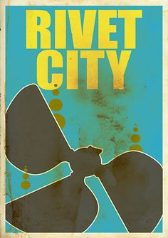 Travel poster for Rivet City from the Fallout Universe. Video games, geek, Fallout, print, nerd.