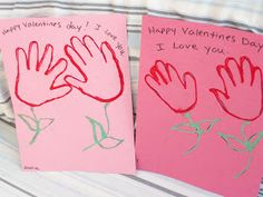 Valentines Day Crafts- For Toddlers and Preschoolers Handprint Flowers