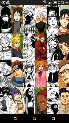 Naruto characters first and last apperances. I love this!