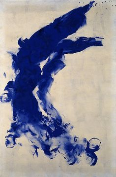 Baby's got the BLUES | ZsaZsa Bellagio - Like No Other. Yves Klein, Anthropométrie sans titire, 1950