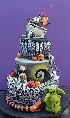 A nightmare before Christmas wedding cake! Absolutely love!