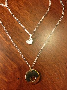 Mother daughter necklace  by rentripp on Etsy