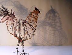 Wire Chicken Sculpture. $115.00, via Etsy.
