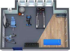RoomSketcher Home Gym Floor Plan