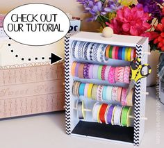 The Most Creative Craft Room Organization Ideas - craft room storage - Ribbon Organization, Ribbon Storage, Craft Organization, Organizing Ideas, Organizing Life, Bedroom Organization, Arts And Crafts For Teens, Art And Craft Videos, Craft Room Storage