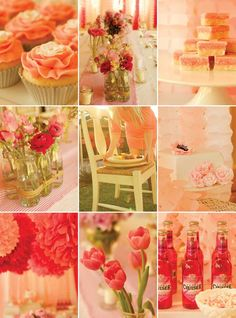 Pink and red wedding moodboard.