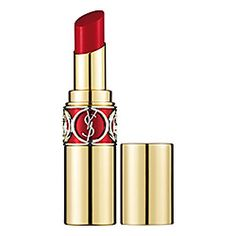 Yves Saint Laurent - Rouge Volupté Shine in 4 Rouge in Danger - deep strawberry red  #sephora