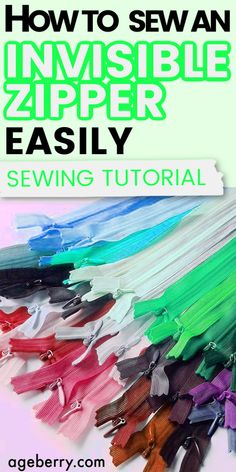 This is a detailed sewing tutorial on inserting a zipper fast and easy without pinning or basting. You just need to use Wonder tape for sewing. If you are wondering how to put in an invisible zipper in a dress or how to sew an invisible zipper in a pillow read this tutorial. Sewing invisible zipper is really easy. Invisible zipper vs regular zipper.