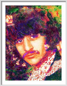 RINGO STAR Portrait  Large Rock and Roll  Art  Giclee by EisnerArt