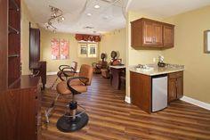 Beauty salon inside Felicita Vida Senior Living in Escondido, CA