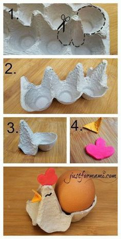 Don& throw your egg carton in the trash, but make chicken out of it . - Design-Magazin - Creative and great Don& throw your egg carton in the trash, but make chicken out of it … - Crafts To Sell, Diy And Crafts, Diy Pour Enfants, Egg Carton Crafts, Easter 2020, Easter Crafts For Kids, Easter Activities, Indoor Activities, Easter Baskets