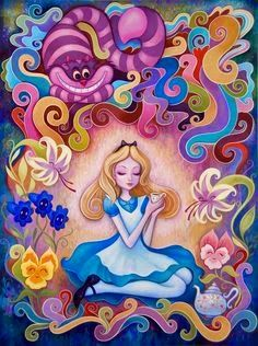 Psychedelic Alice in Wonderland ! So great #princessonly