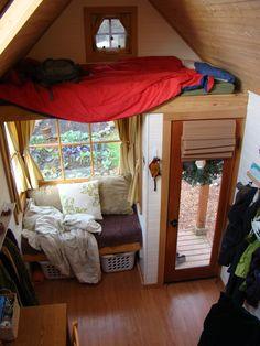 "kinda like this. nice entrance, ""readers corner"" and a loft"