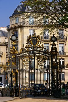 Gate of Parc Monceau in Paris
