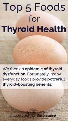 Top 5 Foods for Thyroid Health #thyroid