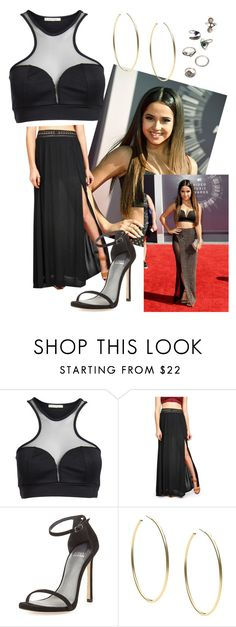 """""""Inspired Becky G Outfit"""" by stephaniediiaz ❤ liked on Polyvore featuring Pieces, Stuart Weitzman, Michael Kors and Forever 21"""