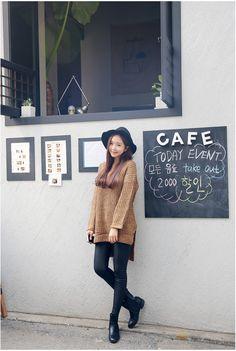 5G Double V Long Knit | Korean Fashion