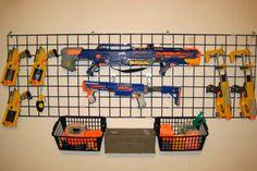Ready, aim, tidy! 8 ways to store Nerf guns | Mum's Grapevine