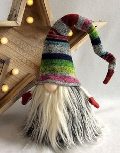 Scandinavian Tomte Nisse Nordic Gnome Woodland Santa Elf Troll