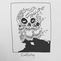 6,242 отметок «Нравится», 15 комментариев — Matt Bailey (@baileyillustration) в Instagram: «Conflicting.»