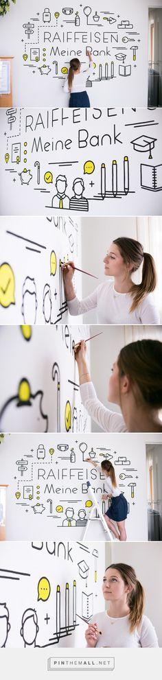 Mural for Raiffeisen #wallart #mural #painting #wall #art #artist #icon #bank #raiffeisen #graphicdesign #design #designer