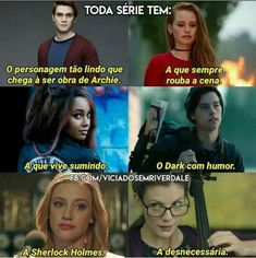 Tipo isso kkkk Riverdale Gifs, Riverdale Funny, Series Movies, Book Series, Cheryl Blossom Aesthetic, Teen Wolf Memes, Film Quotes, True Facts, Pretty Little Liars