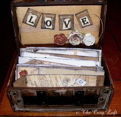 Wedding Guest Book Alternative Wish Box Trunk by thecozyloft, $125.00