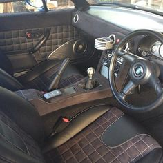 MX5 Mazda Miata Quilted Alcantara interior