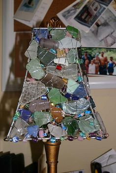 Sea Glass Lamp Cunstruction2 by sugarbeestudios