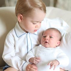 Prince George holding his baby sister  Princess Charlotte. Like every child born, we wish them a healthy, joyful, safe childhood, surrounded by the love of many. May they grow to be full of compassion, courage, integrity, and wisdom; who honor their positions as leaders in this modern global society. May God bless them and guide them each day.
