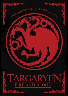 House Targaryen - Game of Thrones - Ficção/Fantasia - Séries | Posters Minimalistas